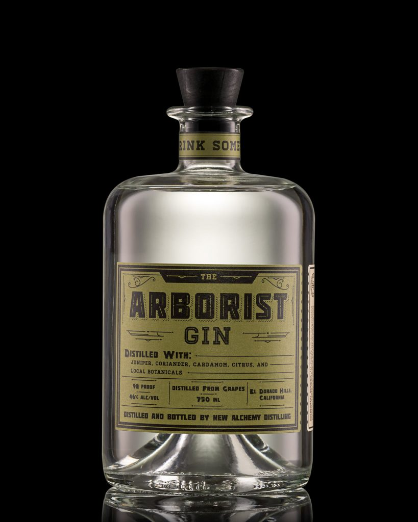 A bottle of The Arborist Gin