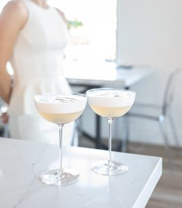 Picture of French 75 cocktail made with Fleurette Gin