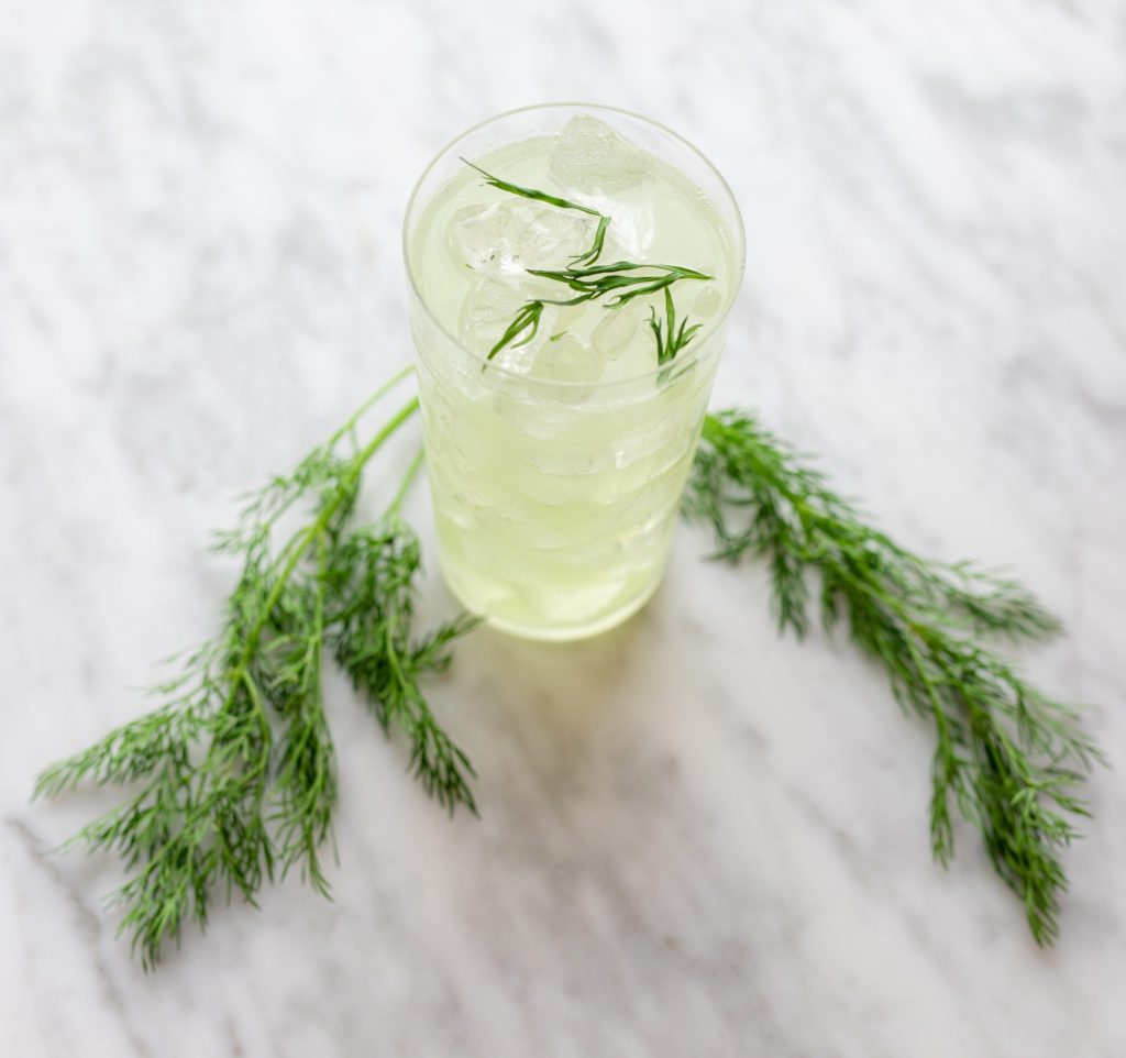 Picture of No Big Dill cocktail made with Fylleangst Aquavit