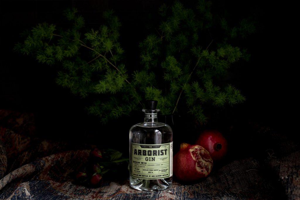 Still life photograph of The Arborist Gin